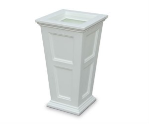 Fairfield tall planter white